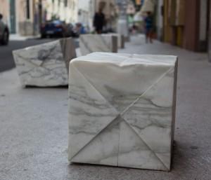 Origami - Skulptur von Michele Monfroni