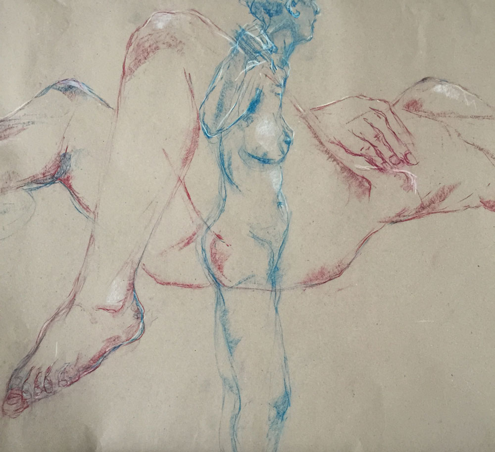 Sie sehen eine weitere Aktzeichnung - Künstler: Hanna Gigling