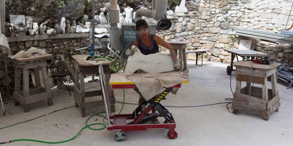 Arbeiten in Carrara